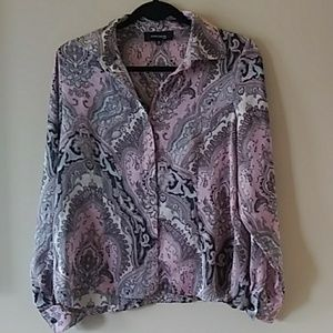 Jones Wear paisley pink blouse 10P